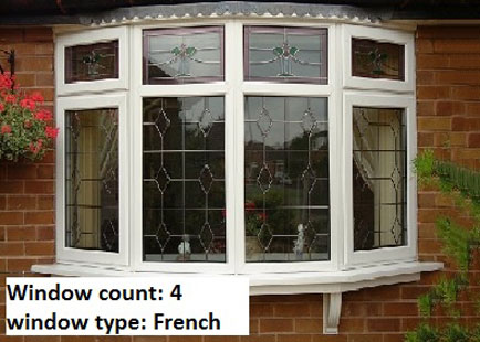 Colonial or French Windows